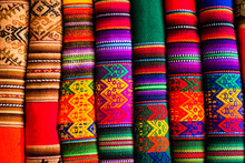 Colorful Fabric At Market In P...