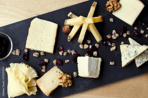 Fromage, plateau, vin, bistrot, verre, repas, laitier