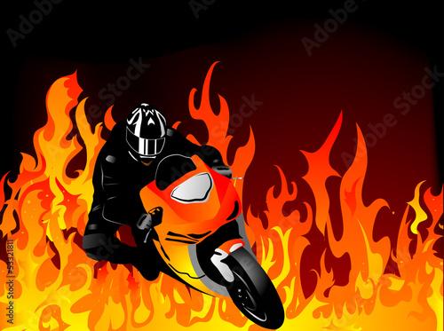 La pose en embrasure Motocyclette Motorcycle