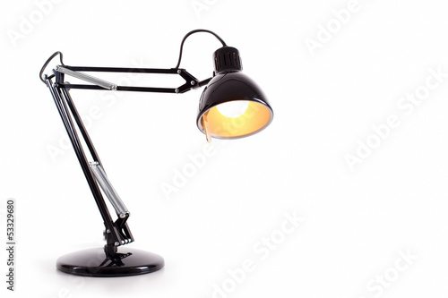 Fotomural Vintage black desk lamp isolated on white
