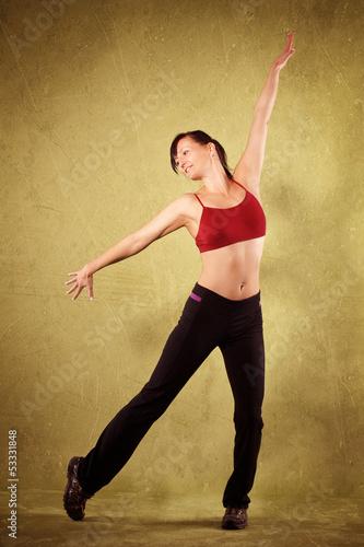 Papiers peints Affiche vintage tanzende Frau