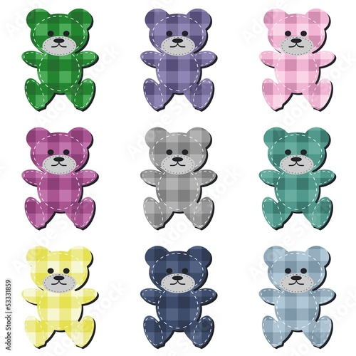 nice scrapbook teddy bears on white #53331859