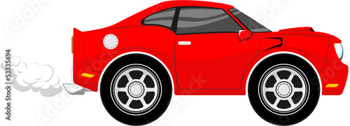 sport car cartoon vector