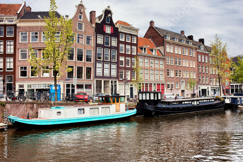 Photo  Prinsengracht Canal in Amsterdam