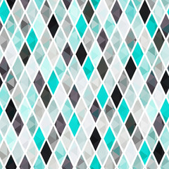 Naklejka 3D seamless turquoise geometric pattern
