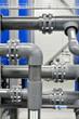 plastic pipes in industrial boiler room