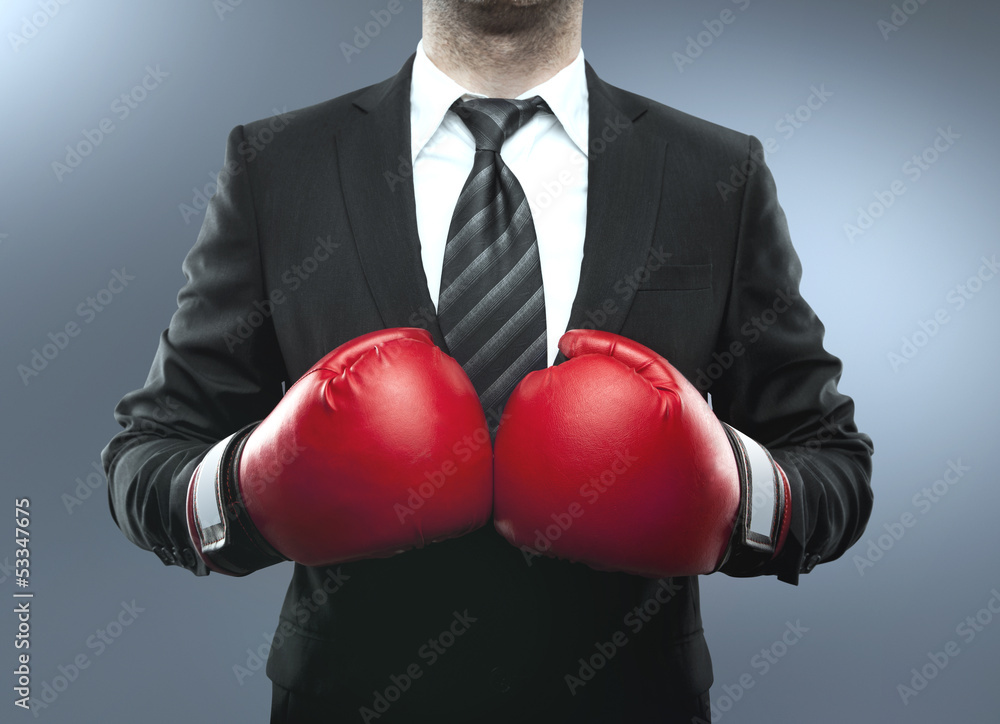Fototapeta man in boxing gloves