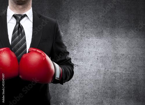 Fotografía  man in boxing gloves