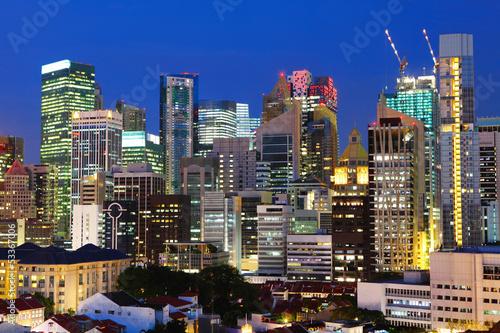 Fototapety, obrazy: Singapore city at night