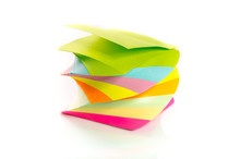 Pile Of Colorful Post-it Notes...