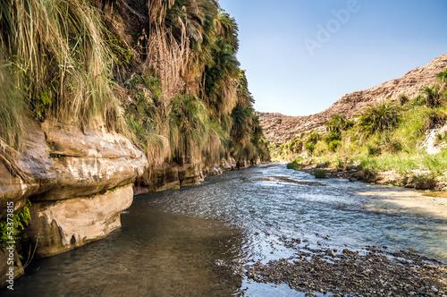 Fotografie, Obraz  The creek in valley Wadi Hasa in Jordan