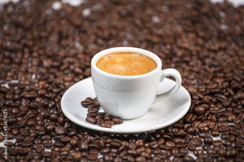 Deurstickers koffiebar Cup of regular coffee.