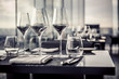 canvas print picture - Empty glasses in restaurant
