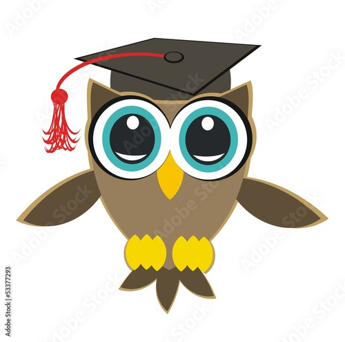 Photo Stands graduate owl - university owl
