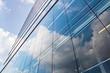 Leinwandbild Motiv Hochhausfassade mit Spiegelungen