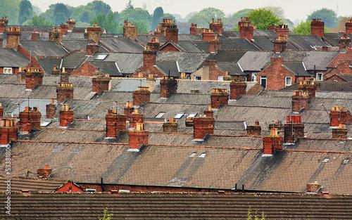 Fotografía Suburban rooftops common urban scene