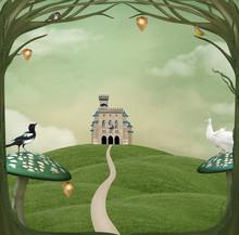 Wonderland Series - Castle Over The Hill