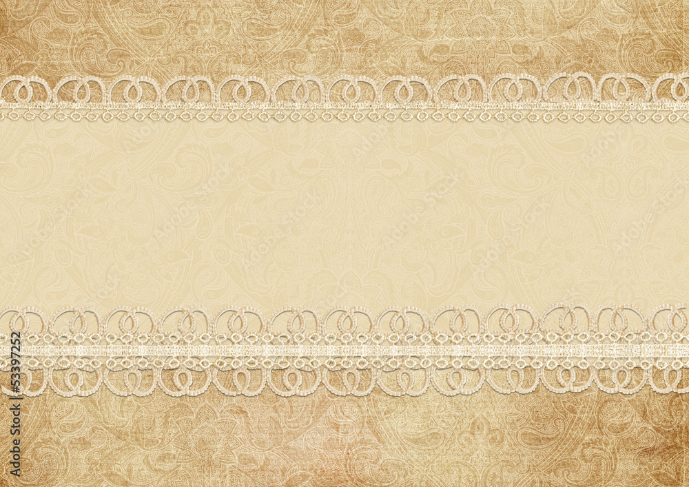 Gorgeous vintage background with lace