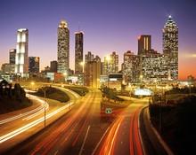 Skyline At Dusk, Atlanta, Georgia © Arena Photo UK