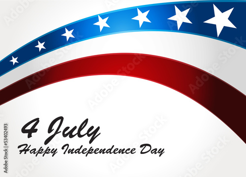 Poster  American Flag, Vector background for Independence Day. Illustrat