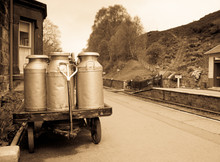 Milk Churns In Old Railway Sta...