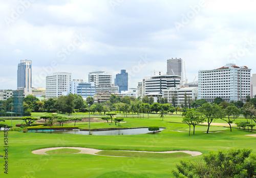 Photo  The city view of Bangkok, Thailand