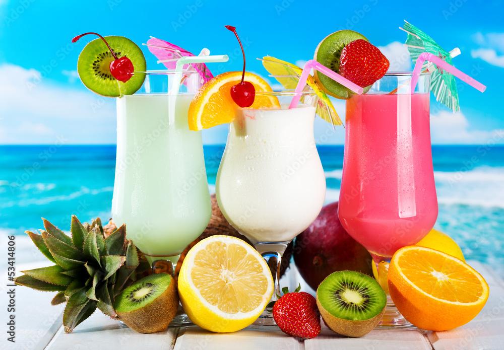 Fototapeta fruits cocktails