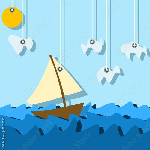 sailinig boat - 53422262