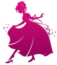 Silhouette Of Cinderella Weari...