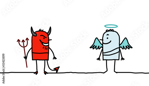 Valokuva  devil & angel