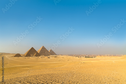 Deurstickers Egypte Great pyramids in Giza valley, Cairo, Egypt