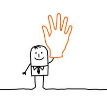 Vote & Hand Sign
