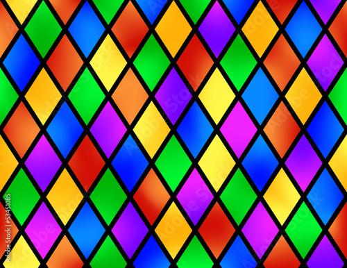 Fotografie, Obraz  Stained glass pattern, vector illustration