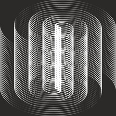 FototapetaA black and white spiral optical illusion