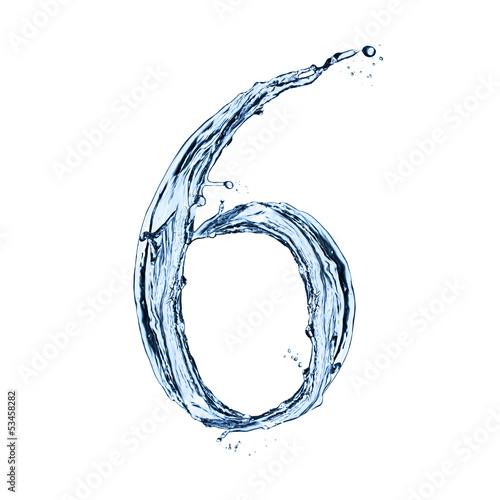 Poster  Water splashes number