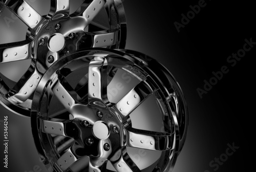 Fotografia, Obraz  Chrome Wheels