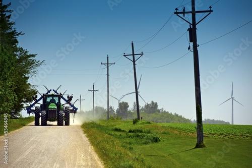 Photo Farmer on Suburb Road