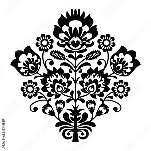 tradycyjny-polski-wzor-ludowy-w-czerni-i-bieli