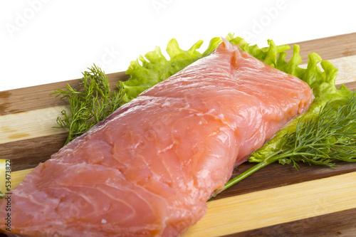 fresh trout fillet