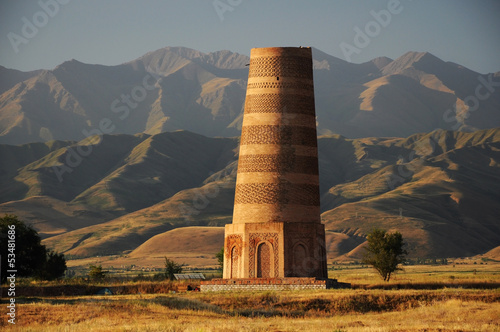 Valokuva  Old Burana tower located on famous Silk road, Kyrgyzstan