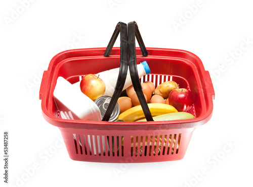 Keuken foto achterwand food basket with food inside