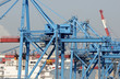 dockside crane with cargo ship