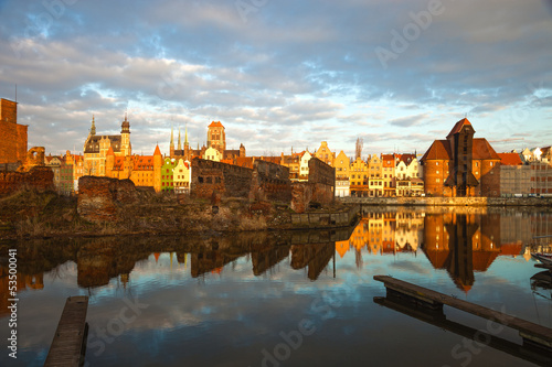 Gdansk in the morning light, Poland.