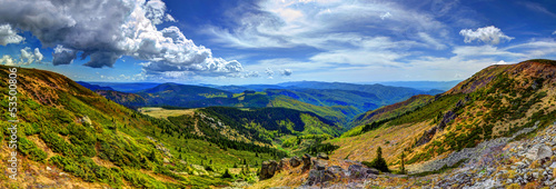 Photo  HDR panorama view from the Apuseni Moountains