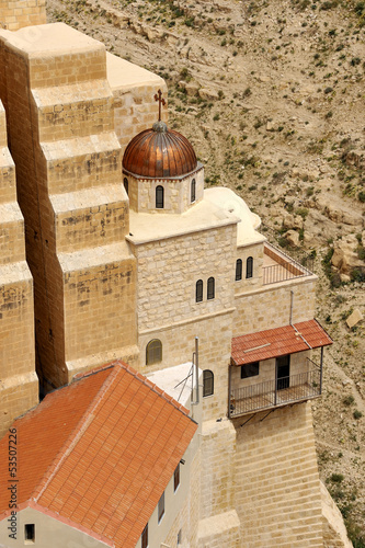 Fotografie, Obraz  Mar Saba convent view from above.
