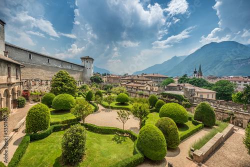 Beautiful Italian Garden  from above