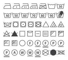 Set Of Washing Symbols (Laundr...