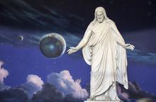 Statue Of Jesus Christ At Temple Square, Utah.