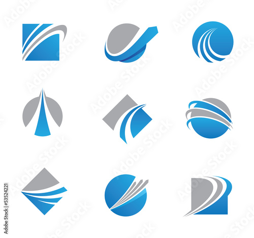 Fototapeta Abstract trail logos and icons