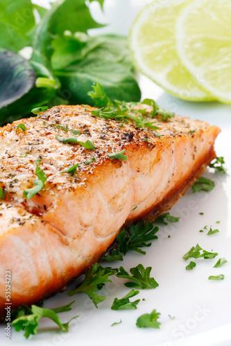 Fotografie, Obraz  Fried Salmon